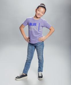 blue lives matter kids t shirt in lavendar