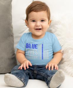 blue lives matter toddler t shirt in light blue