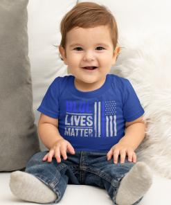 blue lives matter toddler t shirt in royal blue