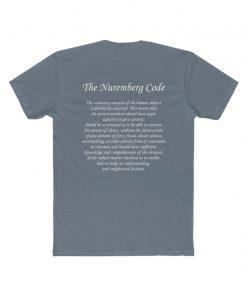 mens medical freedom t shirt indigo with the nuremberg code