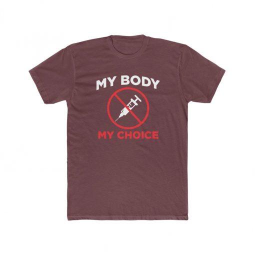 mens medical freedom t shirt maroon