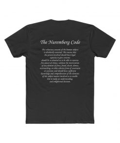 mens medical freedom t shirt with the nuremberg code solid black