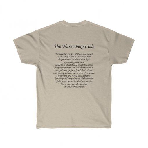 my body my choice medical freedom t-shirt in sand nerumberg code