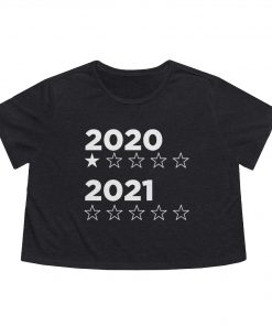 2020 2021 star rating flowy boxed crop tee