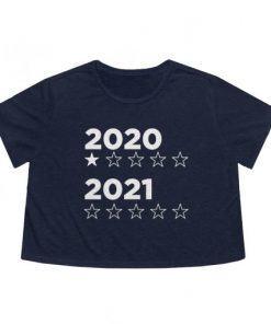 2020 2021 star rating flowy boxed crop tee in navy heather
