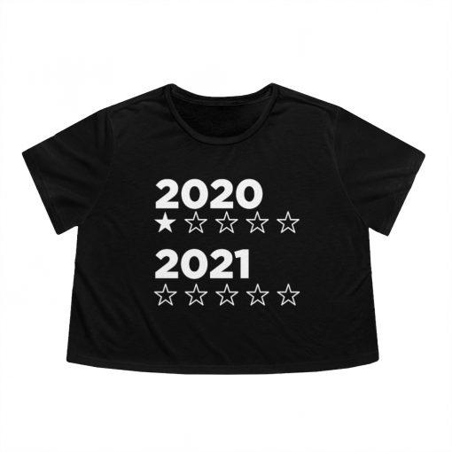 2020 2021 star rating flowy cropped tee in black