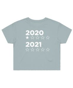 2020:2021 star rating cropped tee in sage green