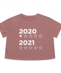 2020:2021 star rating flowy cropped tee in mauve