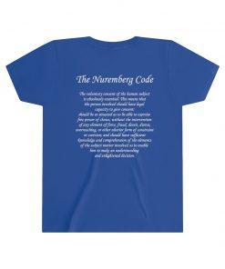girls medical freedom t shirt in true royal nuremberg code