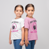 mask choice kid's t shirt in white and pink